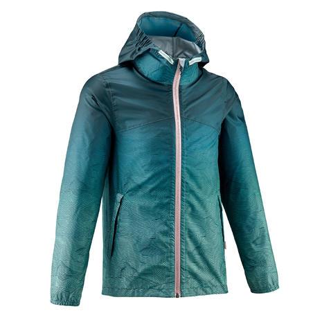 Kids' Hiking Waterproof Jacket MH150 7-15 Years - turquoise