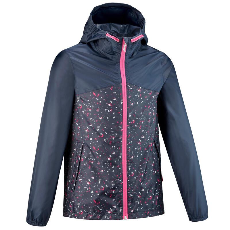 Jachetă impermeabilă Drumeție MH150 Bleumarin 7-15 ani Copii