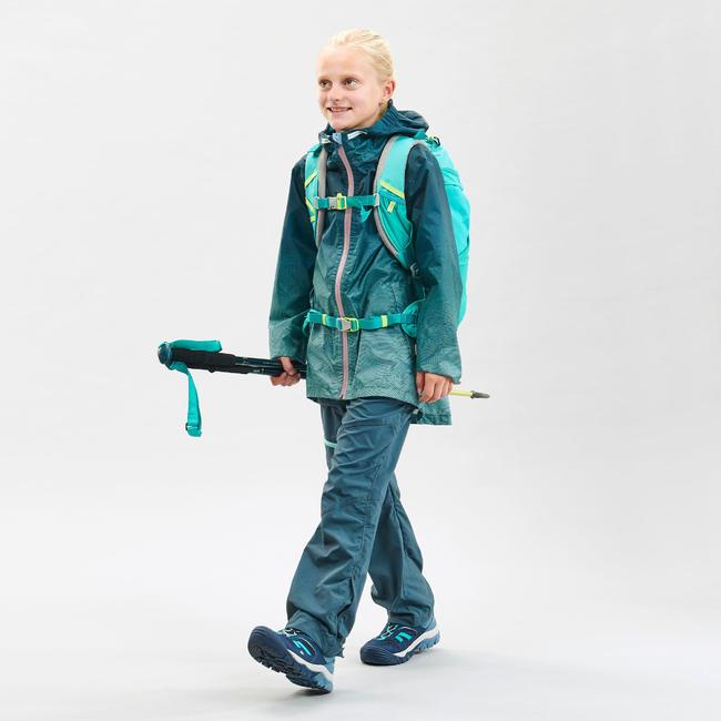 Kids' waterproof hiking jacket MH150 - Turquoise