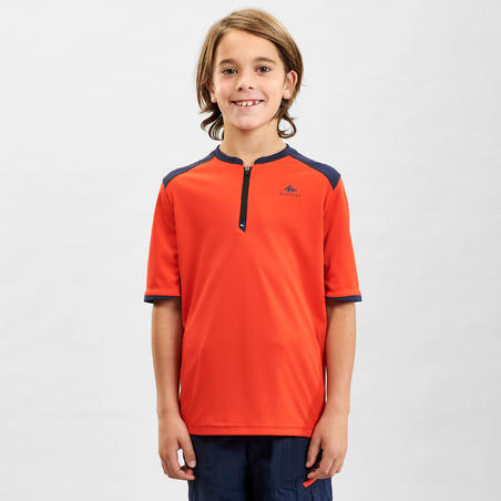 Children's Hiking T-shirt - MH550 - Age 7-15 Years - Orange