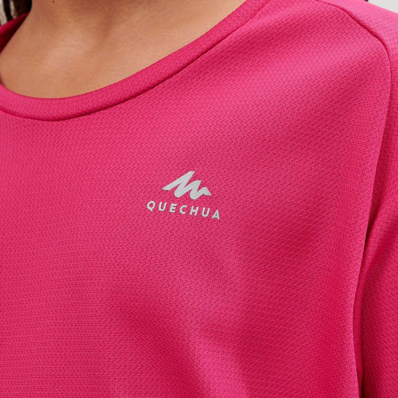Polera de senderismo MH500 rosado infantil