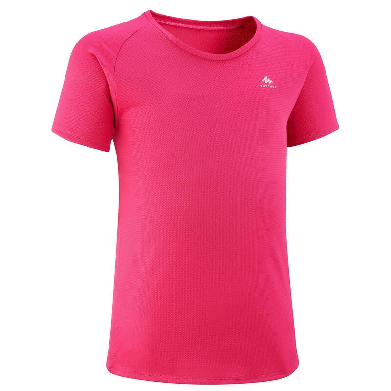 T shirt de randonnée - MH500 rose - enfant 7-15 ans