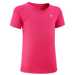 Kids' Hiking T-Shirt - MH500 Aged 7-15 - Pink