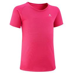 T-shirt de randonnée - MH500 rose - enfant