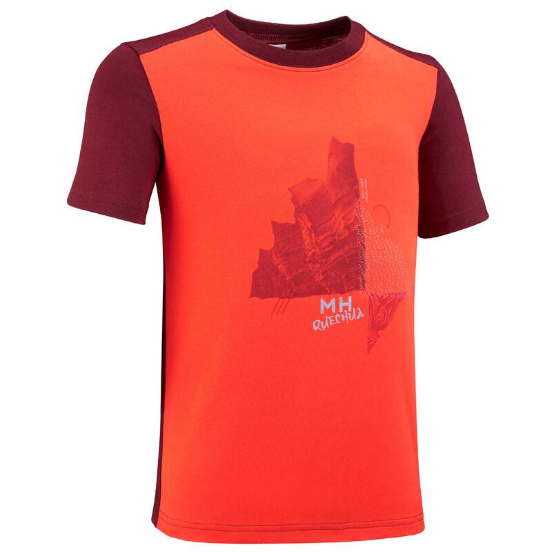 T-shirt de caminhada - MH100 laranja - Criança 7-15 ANOS