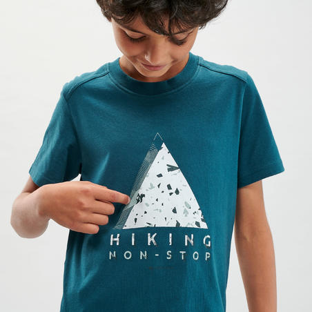 Kids' Hiking T-Shirt - MH100 Dark Green
