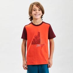 T-Shirt voor bergwandelen kinderen MH100 oranje