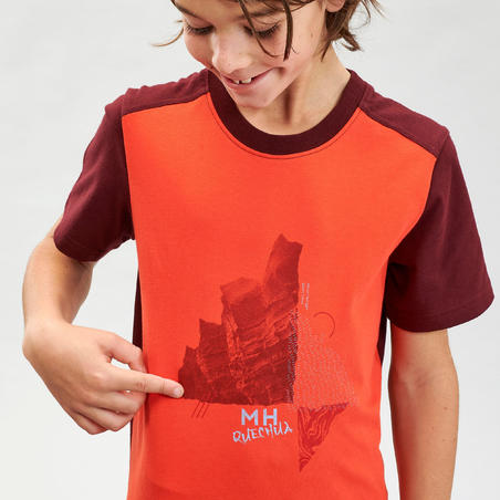 Дитяча футболка 100 для туризму - Помаранчева
