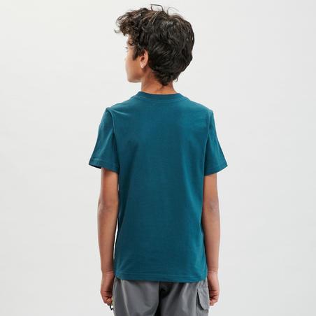 Kids' Hiking T-Shirt - MH100 Aged 7-15 - Dark Green