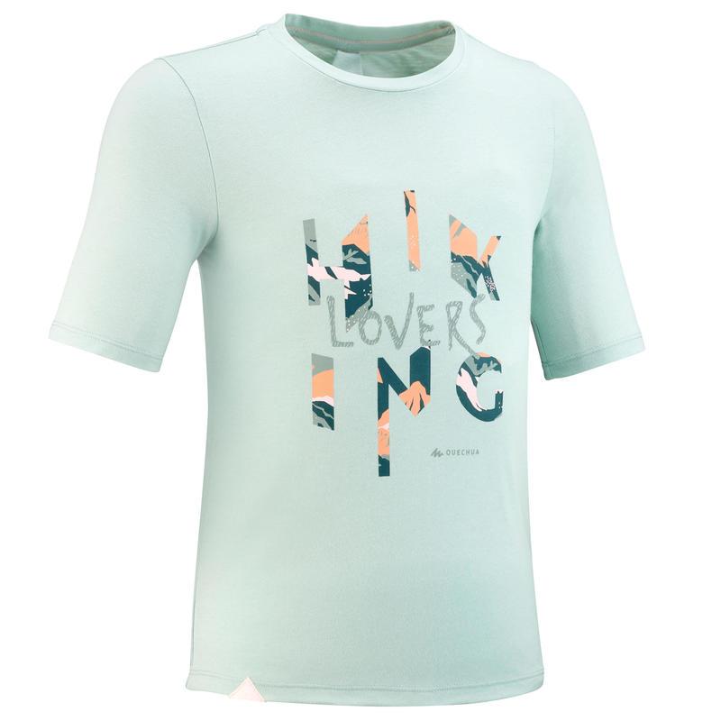 Kids' hiking T-Shirt - MH100 - pale green