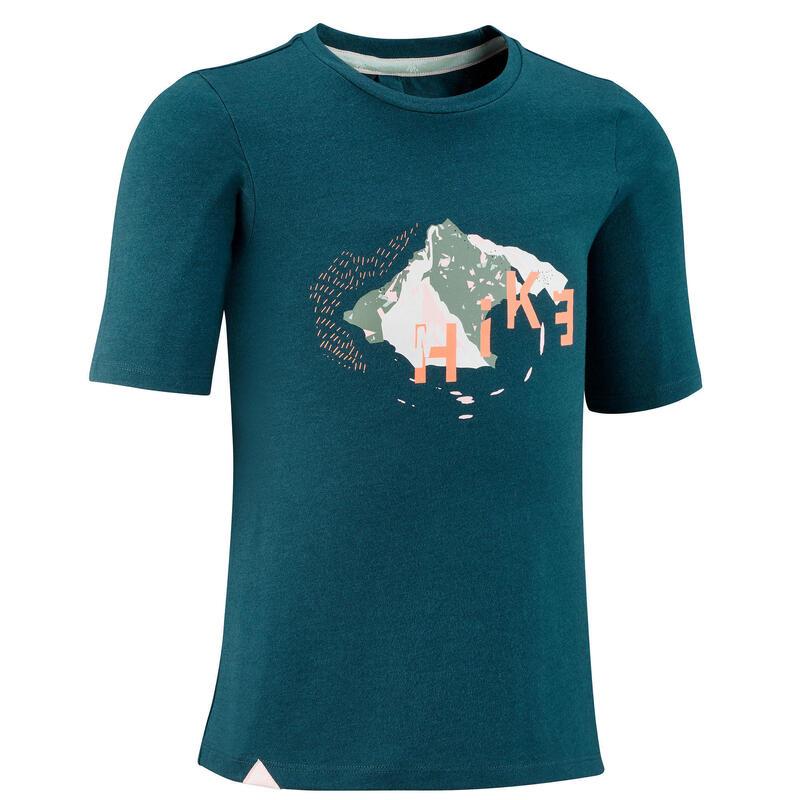 Kids' Hiking T-shirt MH100 7-15 Years - Green
