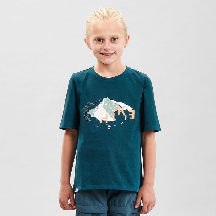 T-Shirt de randonnée - MH100 vert - enfant