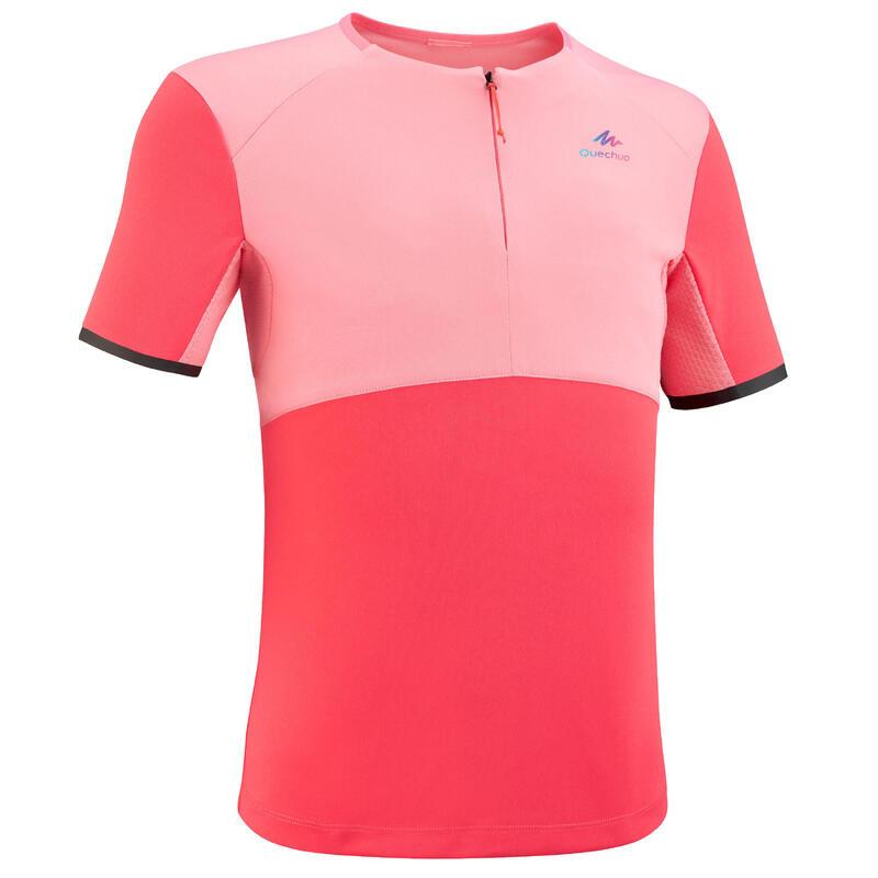 T Shirt de randonnée - MH550 rose - enfant 7-15 ans