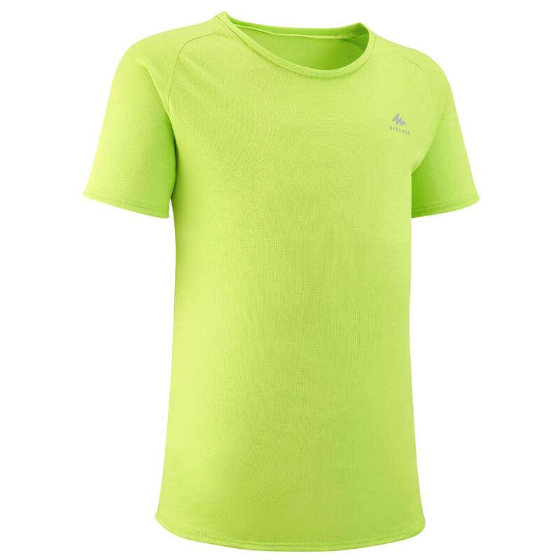 SHORTS T-SHIRTS HATS REGULAR 7-15 yrs Hiking - T-Shirt MH500 TW - Green QUECHUA - Hiking Clothes