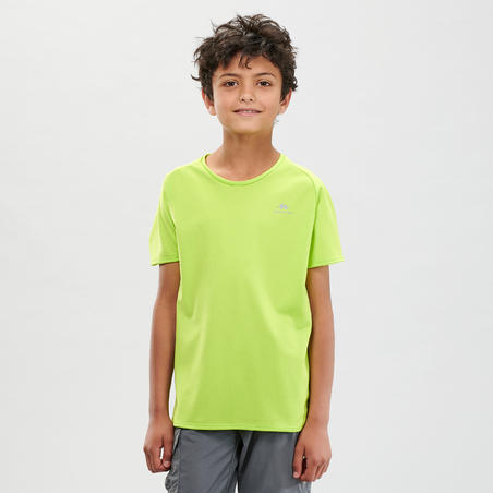MH500 Children's Hiking T-shirt - Green