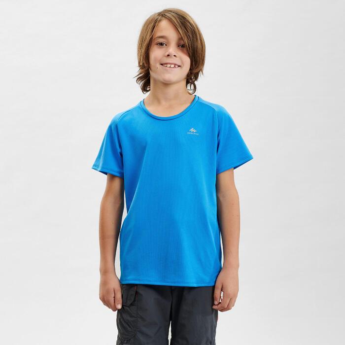 T-Shirt de randonnée - MH500 bleu - enfant