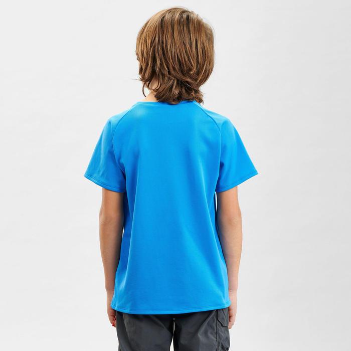 Kids' hiking T-Shirt - MH500 - Blue
