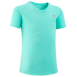 Kids' Hiking T-Shirt - MH500 Aged 7-15 - Turquoise