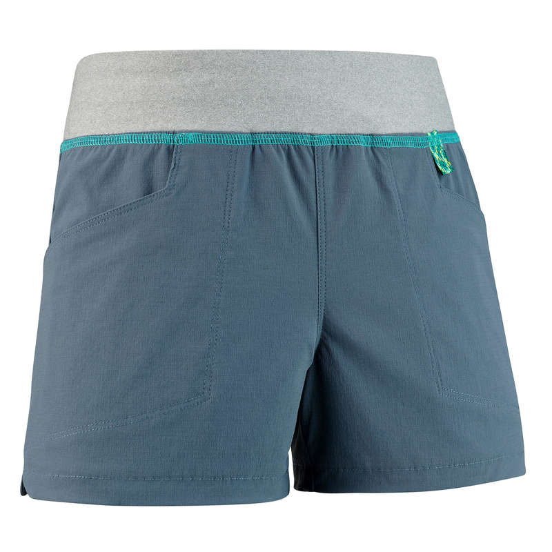 PANTS SHORTS, T SHIRT GIRL 7-15 Y Hiking - SHORTS MH500 TW GREY QUECHUA - Hiking Clothes