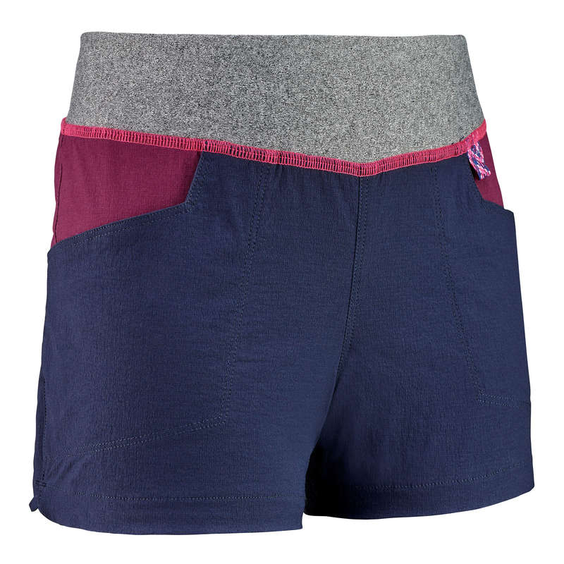 PANTS SHORTS, T SHIRT GIRL 7-15 Y Hiking - SHORTS MH500 TW NAVY QUECHUA - Hiking Clothes