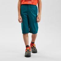 Short de randonnée - MH100 vert - enfant 7-15 ans -