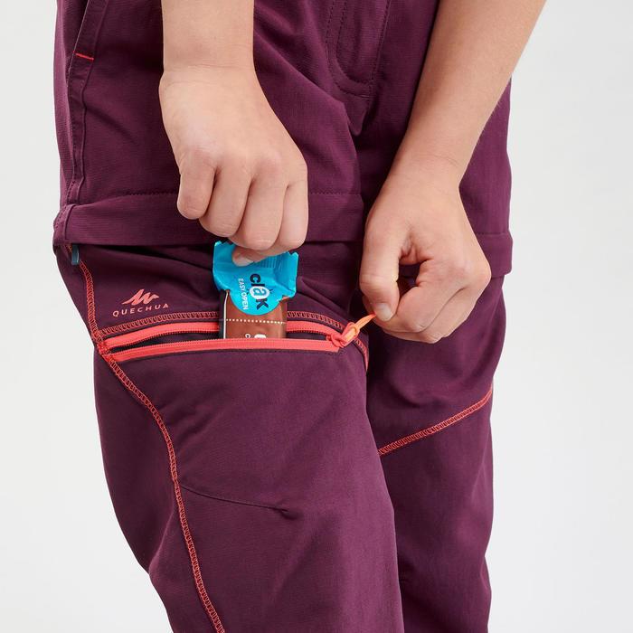 Wandelbroek voor kinderen MH500 paars afritsbaar 7-15 jaar
