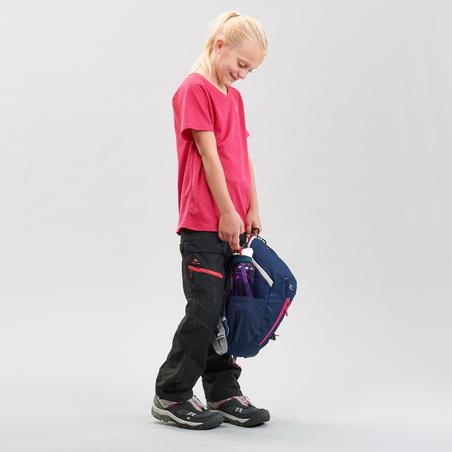 מכנסי טיולים מודולריים MH500 לילדים בגילאי 7 עד 15 - שחור
