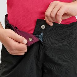 Wandelbroek voor kinderen MH500 zwart afritsbaar 7-15 jaar