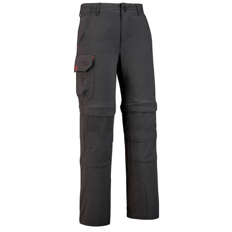 Kids Modular Hiking Trousers - MH500 - Black