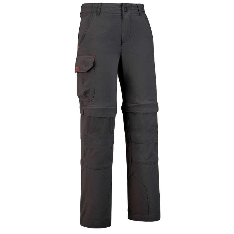 SPODENKI,KOSZULKI ŚREDNIO ZAAW. 7-15 LAT Turystyka, trekking - Spodnie MH500 2w1 dla dzieci QUECHUA - Odzież turystyczna i trekkingowa