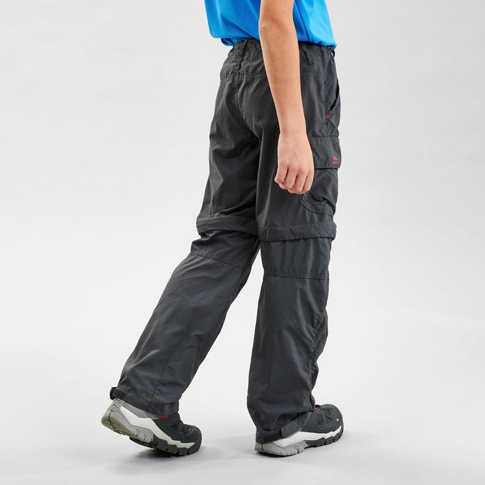 Pantalon de randonnée modulable enfant MH500 noir 7-15 ans