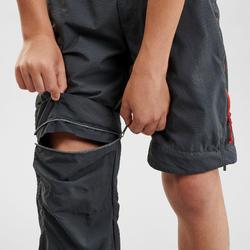 Pantalon de randonnée modulable - MH500 noir - enfant