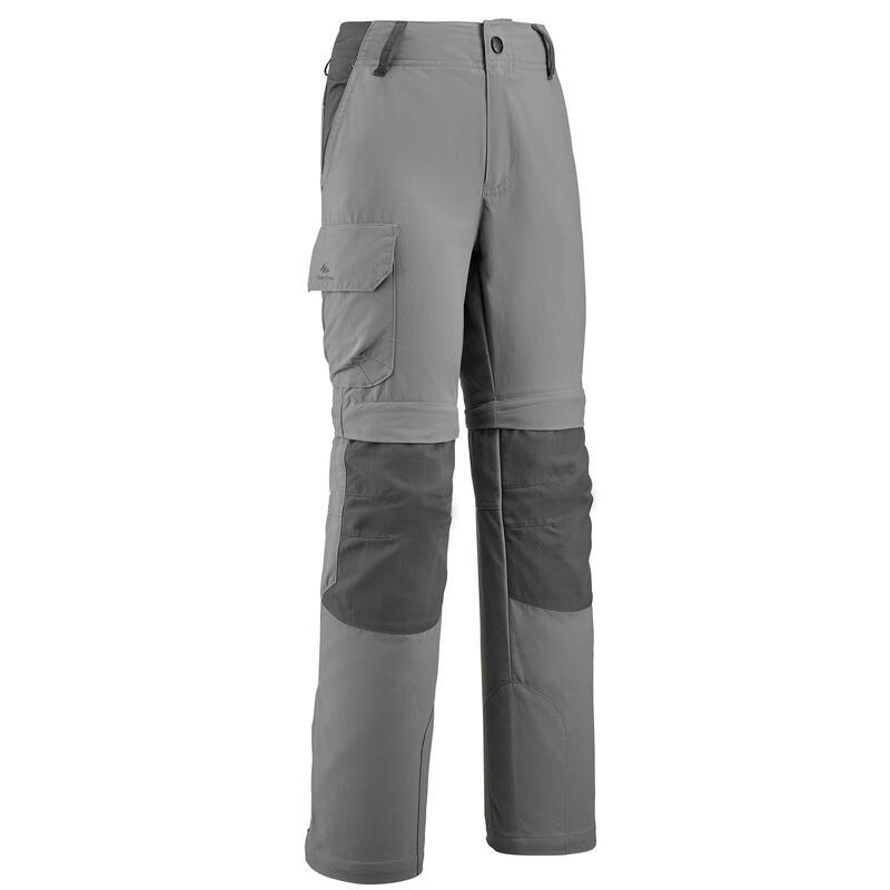 Calça-calção de caminhada criança MH500 cinzento escuro 7-15 anos