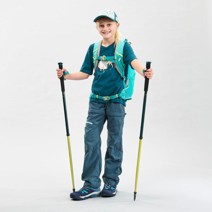 Wandelbroek voor kinderen MH500 turquoise afritsbaar 7-15 jaar