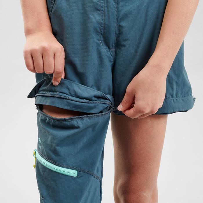 Pantalon de randonnée modulable - MH500 turquoise - enfant
