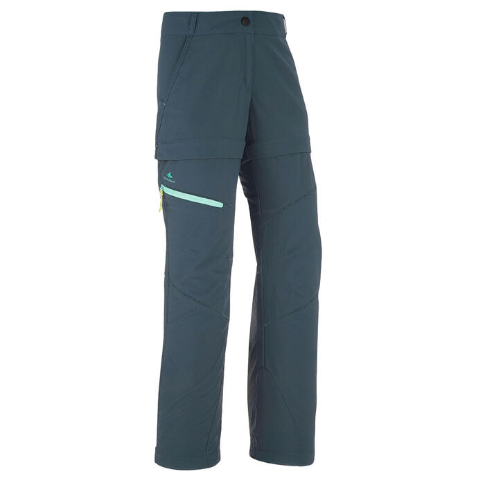 Kids Modular Hiking Trousers - MH500 - Turquoise
