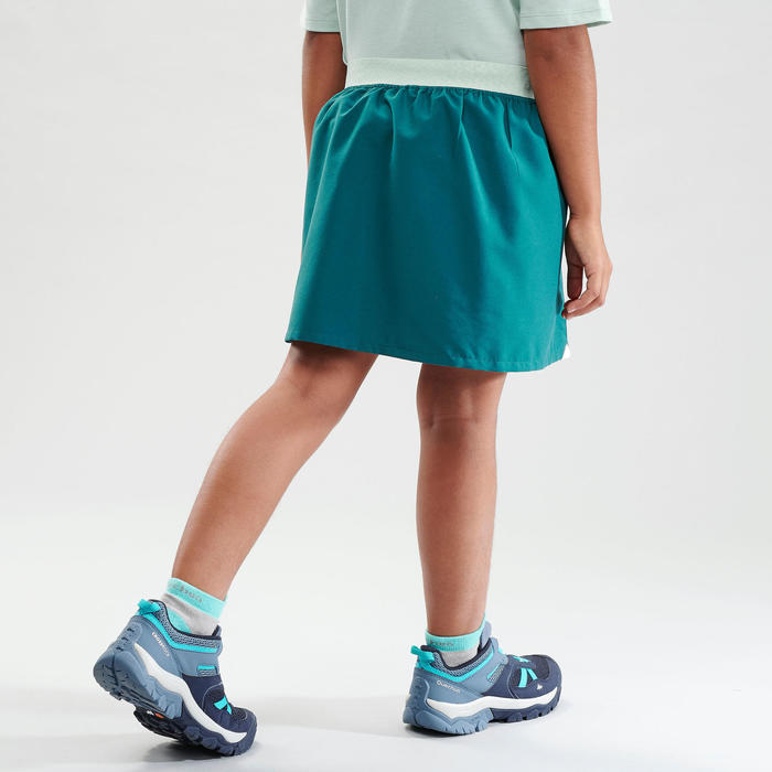 Jupe short de randonnée - MH100 turquoise - enfant 7 - 15 ans -