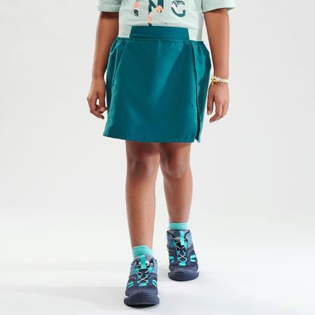 Kids' Hiking Skort - MH100 Aged 7-15 - Turquoise