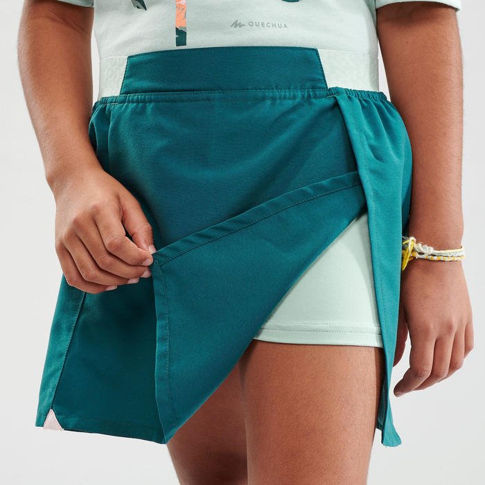 Jupe short de randonnée - MH100 turquoise - enfant