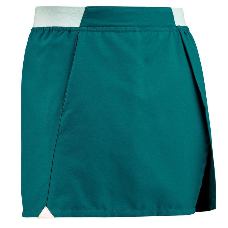 Fustă Pantalon Drumeție MH100 Albastru Turcoaz Fete 7-15 ani