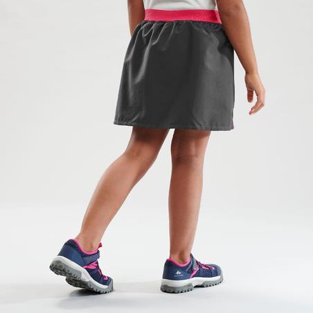 Jupe short de randonnée - MH100 grise et rose - Enfants