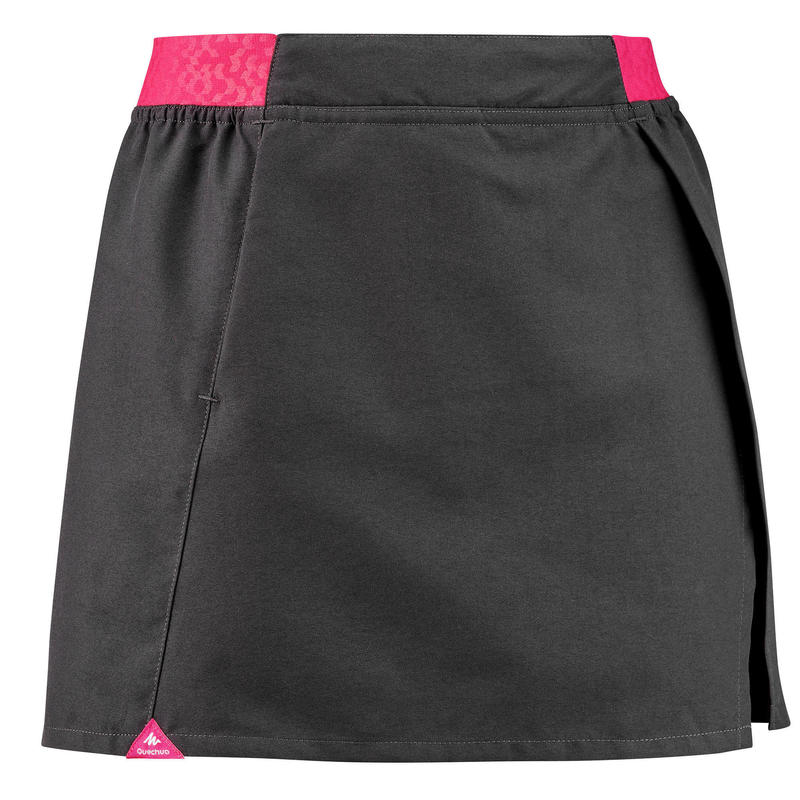 Shortrokje voor wandelen meisjes MH100 grijs/roze 7-15 jaar
