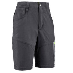 Children's hiking shorts MH500 grey