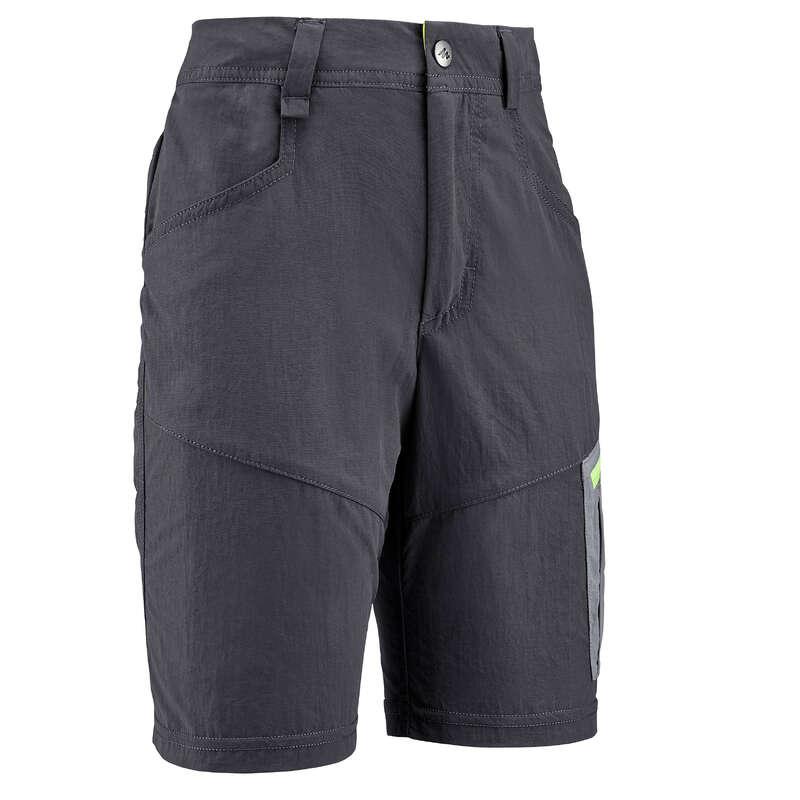 PANT SHORTS T-SHIRT BAMBINO 7-15 Sport di Montagna - Short bambino MH500 grigio QUECHUA - Trekking bambino
