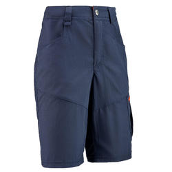 Children's hiking shorts MH500 navy