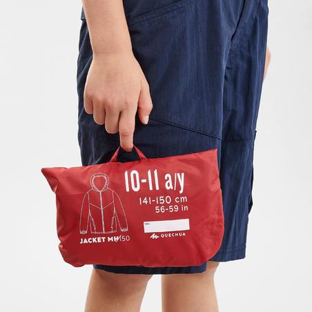 """Bērnu ūdensnecaurlaidīga pārgājienu jaka """"MH150"""", sarkana"""