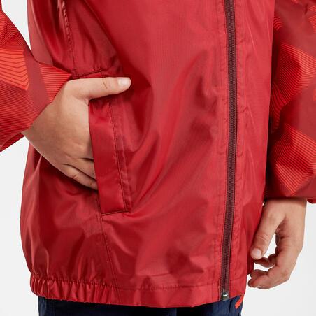 Kids' waterproof hiking jacket MH150 - Red
