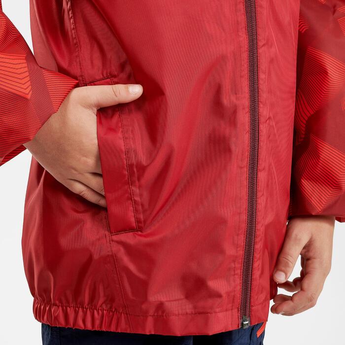 Casaco impermeável de caminhada MH150 vermelho - criança 7-15 anos