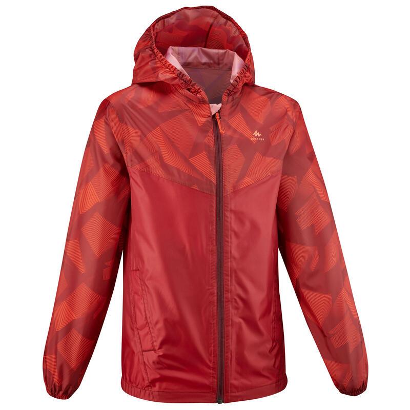 Veste imperméable de randonnée - MH150 rouge - enfant 7-15 ans