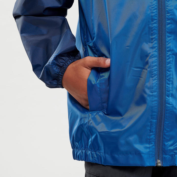 Casaco impermeável de caminhada - MH150 azul - criança 7-15 anos